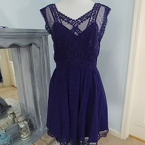 Free People Illusion Lace boho dress